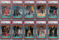 Basketball Cards:Sets, 1986 Fleer Basketball High Grade Complete Set (132) Plus Stickers (11). ...