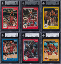 1984-85 Star Company Basketball High Grade Complete Set (288) With #101 Michael Jordan BGS NM-MT+ 8.5!