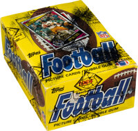 1984 Topps Football Wax Box With 36 Unopened Packs - Dickerson, Marino & Elway Rookie Year!