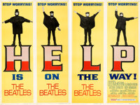 """Help! (United Artists, 1965). Rolled, Very Fine-. Door Panel Set of 4 (20"""" X 60""""). ... (Total: 4 Items)"""