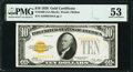 Fr. 2400 $10 1928 Gold Certificate. PMG About Uncirculated 53