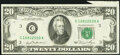 Error Notes:Foldovers, Foldover Error Fr. 2073-C $20 1981 Federal Reserve Note. Choice About Uncirculated.. ...
