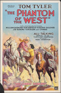 """Movie Posters:Serial, The Phantom of the West (Mascot, 1931). Rolled, Fine+. One Sheet (27"""" X 41"""") Chapter 1 -- """"The Ghost Riders."""" Serial.. ..."""