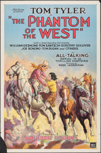 """The Phantom of the West (Mascot, 1931). Rolled, Fine+. One Sheet (27"""" X 41"""") Chapter 1 -- """"The Ghost Ride..."""