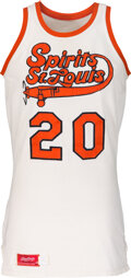 Basketball Collectibles:Uniforms, 1974-75 Maurice Lucas Game Worn Spirits of St. Louis (ABA) Game Worn Rookie Uniform with Family Letter....