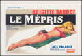 """Movie Posters:Foreign, Le Mepris (Metropolitan, 1963). Very Fine on Linen. Belgian (14.5"""" X 21.25""""). Foreign.. ..."""