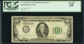 Fr. 2152-J* $100 1934 Dark Green Seal Federal Reserve Note. PCGS Very Fine 35