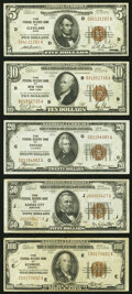 Fr. 1850-D $5 1929 Federal Reserve Bank Note. Very Fine-Extremely Fine; Fr. 1860-B $10 1929 Federal Reserve Ban