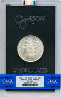 GSA Dollars, 1891-CC $1 Spitting Eagle, VAM-3, GSA, MS61 NGC. A Top 100 Variety. Includes Original Box and COA. PCGS ...