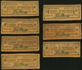Obsoletes By State:Wyoming, Cody, WY- Cody Stampede 50¢ July 2-4, 1934 Leather Notes Seven Examples.. ... (Total: 7 notes)