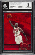 Basketball Cards:Singles (1980-Now), 1997 Metal Universe Michael Jordan (Precious Metal Gems) #23 BGS NM-MT 8 - #'d 52/100. ...