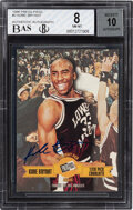 Basketball Cards:Singles (1980-Now), 1996 Press Pass Autograph Kobe Bryant #2 BGS NM-MT 8, Auto 10. ...