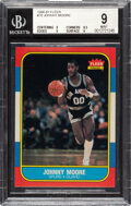 Basketball Cards:Singles (1980-Now), 1986 Fleer Johnny Moore #76 BGS Mint 9....