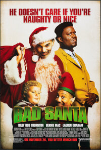 "Bad Santa & Other Lot (Dimension, 2003). Rolled, Overall: Very Fine+. One Sheets (2) (27"" X 40"") SS Advanc..."