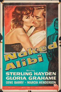 "Naked Alibi (Universal International, 1954). Folded, Fine. One Sheet (27"" X 41""). Film Noir. From the Collecti..."