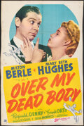 "Movie Posters:Comedy, Over My Dead Body (20th Century Fox, 1942). Very Good+ on Kraft Paper. Trimmed One Sheet (27"" X 40""). Comedy. From the Col..."