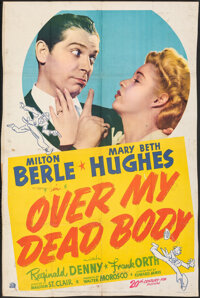 "Over My Dead Body (20th Century Fox, 1942). Very Good+ on Kraft Paper. Trimmed One Sheet (27"" X 40""). Comedy..."