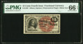 Fractional Currency:Fourth Issue, Fr. 1267 15¢ Fourth Issue PMG Gem Uncirculated 66 EPQ.. ...