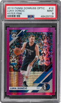 2018 Panini Donruss Optic Luka Doncic (Hyper Pink) #16 PSA Mint 9