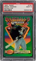 Baseball Cards:Singles (1970-Now), 1993 Finest Refractor Frank Thomas #102 PSA Mint 9....