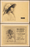 """Movie Posters:Western, When a Girl Loves (Universal Film Manufacturing, 1919). Fine/Very Fine. Title Lobby Card & Lobby Card (11"""" X 14""""). Western. ... (Total: 2 Items)"""