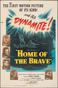 """Movie Posters:War, Home of the Brave (United Artists, 1949). Folded, Fine/Very Fine. One Sheet (27"""" X 41""""). War.. ..."""