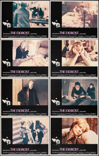 "The Exorcist (Warner Bros., 1974). Very Fine+. Lobby Card Set of 8 (11"" X 14"") & Uncut Pressbook (16 Pages..."