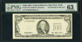 Third Printing on Back Error Fr. 2174-B $100 1993 Federal Reserve Note. PMG Choice Uncirculated 63