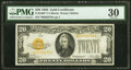 Small Size:Gold Certificates, Fr. 2402* $20 1928 Gold Certificate. PMG Very Fine 30.. ...