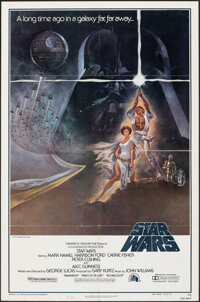 "Star Wars (20th Century Fox, 1977). Folded, Very Fine. One Sheet (27"" X 41"") Third Printing Style A. Tom Jung..."