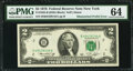 Mismatched Serial Number Prefix Letters Error Fr. 1935-B $2 1976 Federal Reserve Note. PMG Choice Uncirculated 64