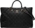 Luxury Accessories:Bags, Chanel Black Quilted Caviar Leather Coco Top Handle Large Shopping Tote Bag with Ruthenium Hardware . Condition: 3. 15...