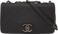 """Luxury Accessories:Bags, Chanel Gray Diamond Calfskin Leather & Suede Medium Flap Bag with Ruthenium Hardware. Condition: 2. 10"""" Width x 6"""" Hei..."""