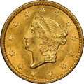 Gold Dollars, 1849 G$1 Closed Wreath MS63 NGC. NGC Census: (59/121). PCGS Population: (75/88). CDN: $1,050 Whsle. Bid for NGC/PCGS MS63. ...
