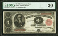 Large Size:Treasury Notes, Fr. 351 $1 1891 Treasury Note PMG Very Fine 30.. ...