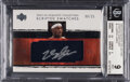 Basketball Cards:Singles (1980-Now), 2003 Exquisite Collection LeBron James (Scripted Swatches) #LJ BGS Mint 9, Auto 10 - #'d 06/25....