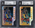 Basketball Cards:Lots, 1996 Bowman's Best Picks Refractor Kobe Bryant #BP10 BGS Graded Pair (2).... (Total: 2 items)
