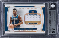 2019 Panini National Treasures Zion Williamson Prime Rookie Materials #RM-ZWL BGS NM-MT+ 8.5 - Serial Numbered 17/25...