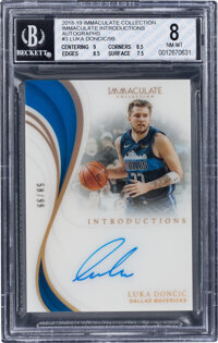 2018 Immaculate Collection Immaculate Introductions Luka Doncic Autograph #INT-LDC BGS NM-MT 8, Auto 10 - Serial Numbere...