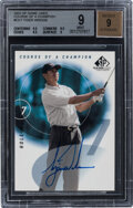 Golf Cards:General, 2002 SP Game Used Course Of A Champion Tiger Woods Autograph #CC-7 BGS Mint 9, Auto 9....