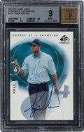 Golf Cards:General, 2002 SP Game Used Course Of A Champion Tiger Woods Autograph #CC-4 BGS Mint 9, Auto 9. ...
