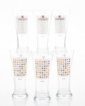 Collectible, Damien Hirst (b. 1965). Pilsner-shape Beer Glasses (set of 6), 2002. Digital print on glass. 7 x 3 inches (17.8 x 7.6 cm... (Total: 6 Item)