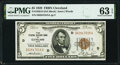 Fr. 1850-D $5 1929 Federal Reserve Bank Note. PMG Choice Uncirculated 63 EPQ