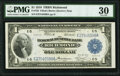 Large Size:Federal Reserve Bank Notes, Fr. 722 $1 1918 Federal Reserve Bank Note PMG Very Fine 30.. ...
