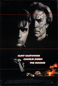 "The Rookie (Warner Bros., 1990). Rolled, Fine+. Autographed One Sheet (27"" X 40"") SS. Action"