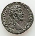 Ancients:Roman Imperial, Ancients: Commodus, as Augustus (AD 177-192). AE sestertius (32mm, 28.11 gm, 12h). Choice XF, tooled. ...