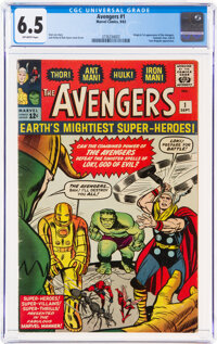The Avengers #1 (Marvel, 1963) CGC FN+ 6.5 Off-white pages