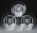 Glass, Group of Seven R. Lalique Clear and Frosted Glass Strasbourg Partial Service, circa 1932. Marks: R. LALIQUE... (Total: 7 Items)
