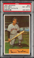 Baseball Cards:Singles (1950-1959), 1954 Bowman Sam Mele (213/1661 Putouts) #22 PSA NM-MT 8....