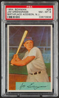 Baseball Cards:Singles (1950-1959), 1954 Bowman Jim Greengrass (Birthplace Addison, N.J.) #28 PSA NM-MT 8....